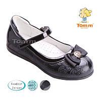 Туфли для девочек черные с узором  Tom.m  Размеры: 26-31