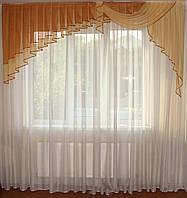 Ламбрикен Ассиметрия 2,5м коричневый фатин, фото 1