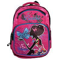"""Рюкзак детский школьный для девочек """"Barbie"""" (40х35см.) малиновый"""