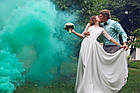 Цветная ручная дымовая шашка GREEN Smoke, время: 60 секунд, цвет дыма: зеленый , фото 2