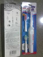 Электрическая зубная щетка + 3 насадки