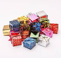 Подарочная коробочка для кольца и серьг 5х5х3 см - Кроко