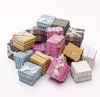 Подарочная коробочка для кольца и серьг квадратная - Пайетки