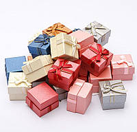 Подарочная коробочка для кольца и серьг квадратная - Классика №2