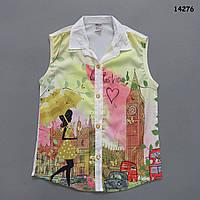 Шифоновая блузка для девочки. 6-7  лет