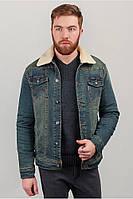 Куртка джинсовая мужская, теплая