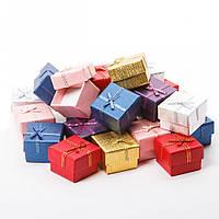 Подарочная коробочка для кольца  и серьг - Радужный микс