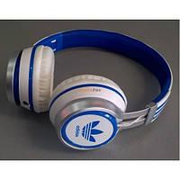 Наушники проводные ADIDAS AD-188 Синие, закрытая акустика, компьютерные наушники Adidas, наушники адидас