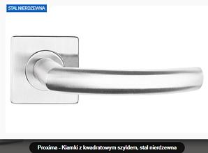 Дверная ручка Proxima нержавеющая сталь