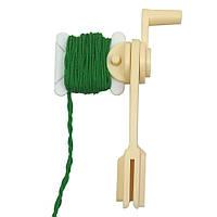 Прялка для намотки лент, тесемок, пряжи, шнурков + 30 бобин