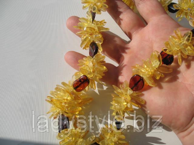 купить украшения бусы из натурального янтаря колье серьги янтарные украшения