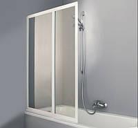 COMBINETT штора на ванну 2 х панельная 101,5*140см  (проф белый, стекло стириновое)