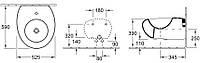 PURE STONE биде подвесное на 1 отв без перелива,  525*590мм, цвет grey stone C+