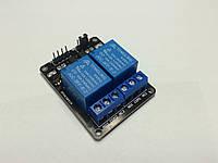 Arduino 2 канальный модуль с реле 5В, 10А.