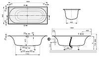 CETUS DUO ванна 180*80 с ножками