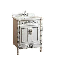 Versailles тумба 710*570*850мм, белая-серебро