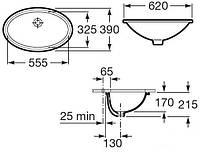 GRAND BERNA умывальник подвесной 62*39 см