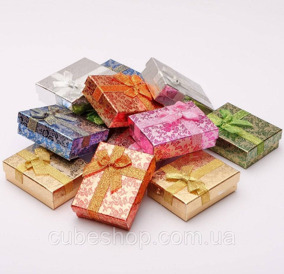Коробка для бижутерии 7х9х3см - Цветочный принт