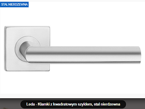 Дверная ручка Leda нержавеющая сталь