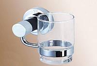 Стакан стекло с держателем 14*10,5*10см, латунь  и нерж.сталь