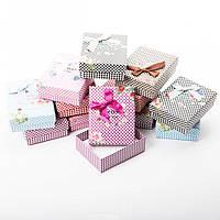 Коробочка подарочная для украшений прямоугольная 7х9х3см - Шахматки
