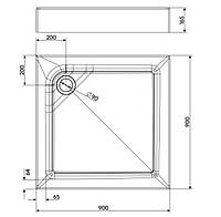 FIRST поддон квадратный 90 x 90 см