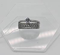 Кольцо двойное с камнями серебро 925*