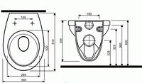 IDOL подвесной унитаз без сиденья