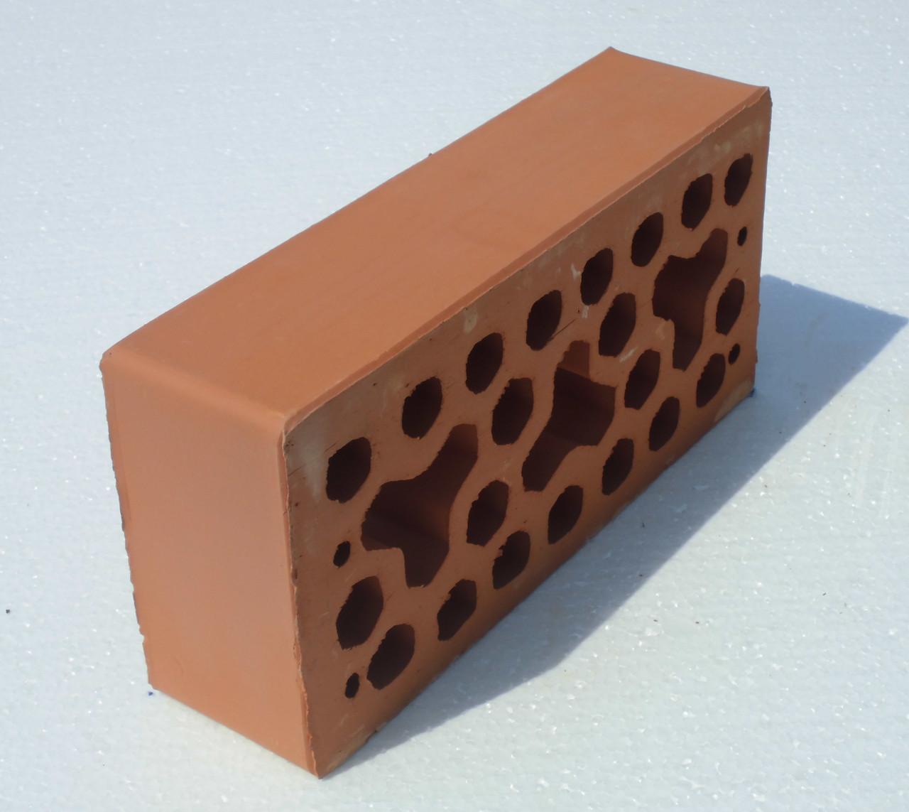 Лицевой керамический кирпич Красный Морковный Ч0