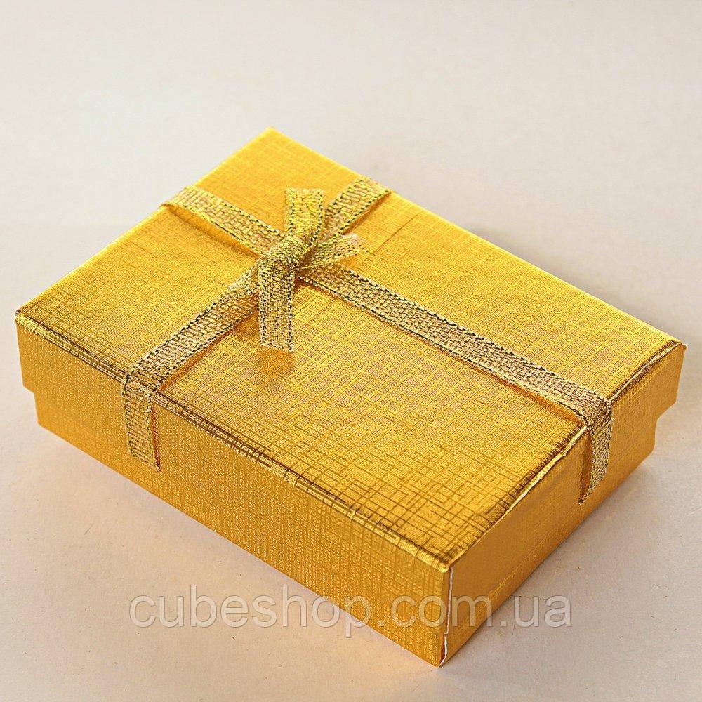 Коробка для бижутерии 7х9х3см - Золото