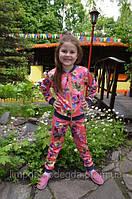 Детский спортивный костюм для девочки Коралловые цветы