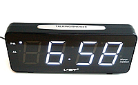 Светодиодные электронные часы VST 763T-6, настольные часы с будильником