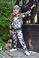 Детский спортивный костюм для девочки Цветы