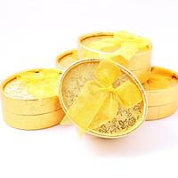 Овальная коробочка для украшений 80/60/35 мм - Овал золотой