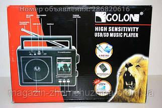 Портативное радио GOLON RX-99UAR, радио USB SD music Player, фото 2