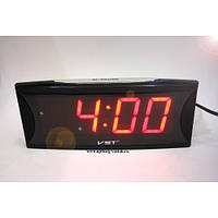 Настольные электронные говорящие часы VST 719T-1 (красное табло)