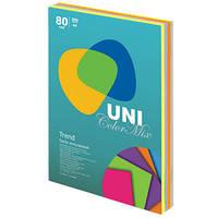 Цветная офисная бумага UniColor Trend Mix (5 цветов по 50 листов)
