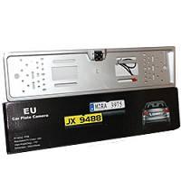 Универсальная автомобильная камера заднего вида A58 silver LED