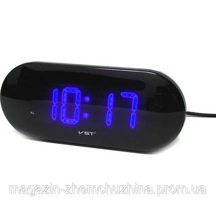 Часы электронные VST 717-5 (синие табло), настольные часы с будильником, фото 2