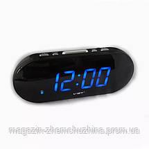 Часы электронные VST 717-5 (синие табло), настольные часы с будильником, фото 3