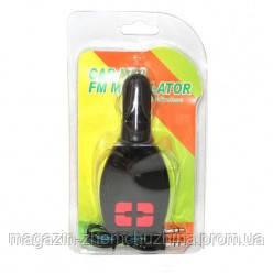 FM модулятор C-02 (LCD/TF/USB/MP3), трансмиттер с пультом управления, фото 2