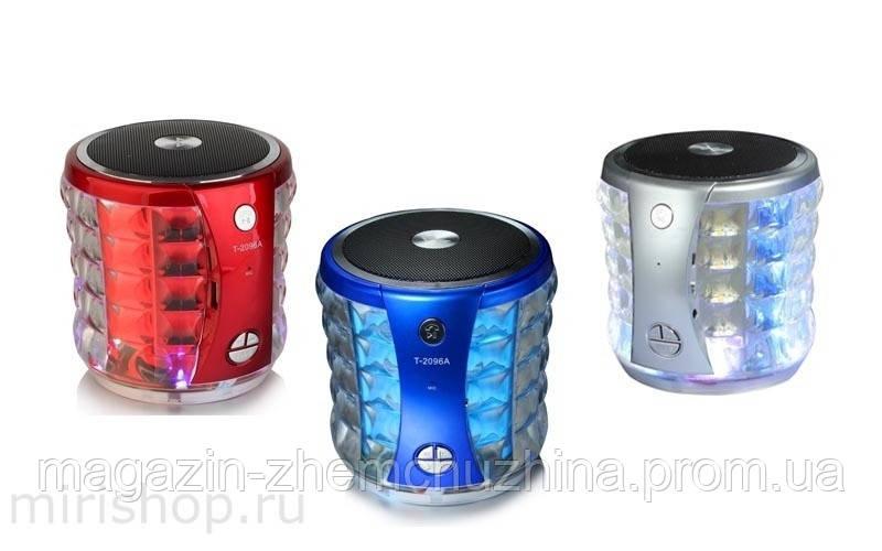 Музыкальная Bluetooth колонка со светомузыкой T-2096A Portable Mini Wireless Speaker