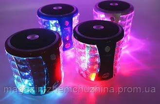 Музыкальная Bluetooth колонка со светомузыкой T-2096A Portable Mini Wireless Speaker, фото 2
