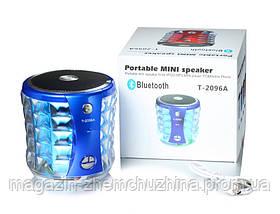 Музыкальная Bluetooth колонка со светомузыкой T-2096A Portable Mini Wireless Speaker, фото 3
