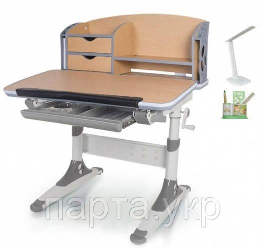 Стол трансформер с надстройкой Evo-Kids Aivengo 80см + лампа