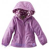 OshKosh Куртка на девочку сиреневая на флисе в сердечко