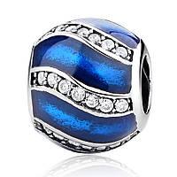 Серебряный шарм голубое Пандора (Pandora) украшение
