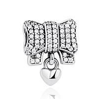 Серебряный шарм Пандора (Pandora) подарок от всего сердца
