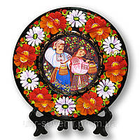 Декоративная тарелка расписная (украинцы)