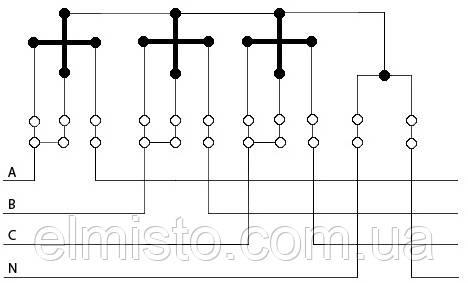 Схема подключения трёхфазного электросчётчика прямого включения